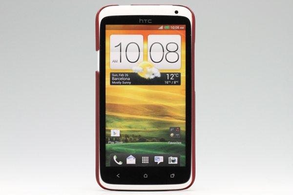 【ネコポス送料無料】HTC One X (S720e) 専用保護カバー LCD液晶保護フィルム付き 5色あります  [4]