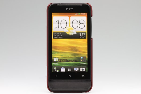 【ネコポス送料無料】HTC One V (T320e) 専用保護カバー LCD液晶保護フィルム付き 3色あります  [2]