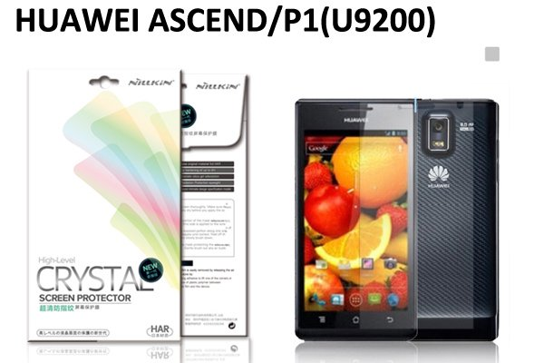 【ネコポス送料無料】HUAWEI Ascend P1 (U9200) 液晶保護フィルムセット クリスタルクリアタイプ  [1]
