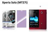 【ネコポス送料無料】Xperia Sola (MT27i)用 液晶保護フィルムセット アンチグレアタイプ