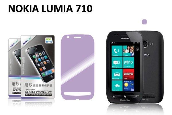 【ネコポス送料無料】NOKIA LUMIA 710用 液晶保護フィルムセット アンチグレアタイプ  [1]