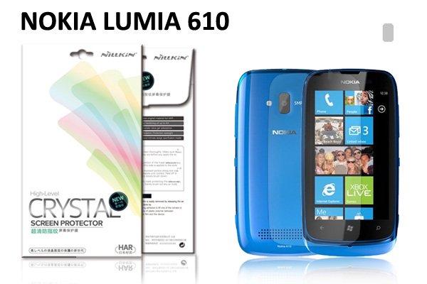 【ネコポス送料無料】NOKIA LUMIA 610用 液晶保護フィルムセット クリスタルクリアタイプ  [1]