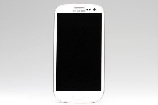 SAMSUNG Galaxy S3(GT-I9300) フロントパネルASSY ホワイト  [1]