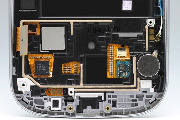SAMSUNG Galaxy S3(GT-I9300) フロントパネルASSY ホワイト  [3]