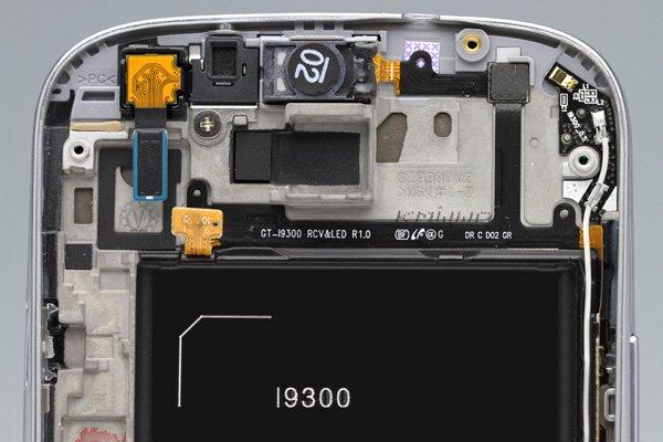SAMSUNG Galaxy S3(GT-I9300) フロントパネルASSY ホワイト  [4]