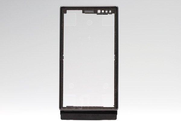 【ネコポス送料無料】Xperia Sola (MT27i) フロントフレーム ブラック  [1]