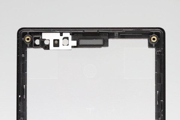 【ネコポス送料無料】Xperia Sola (MT27i) フロントフレーム ブラック  [3]