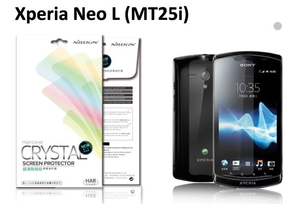 【ネコポス送料無料】Xperia neo L (MT25i)液晶保護フィルムセット クリスタルクリアタイプ  [1]