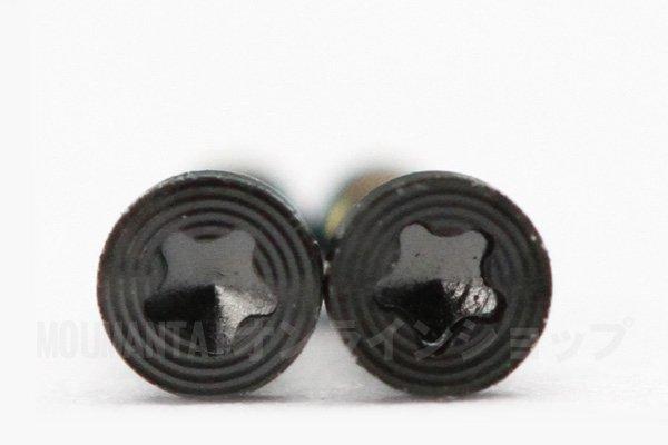 【ネコポス送料無料】Apple iPhone5 スクリュー 星型 2個セットブラック  [1]