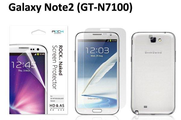 【ネコポス送料無料】SAMSUNG Galaxy Note2 (GT-N7100) Rock液晶保護フィルム クリスタルクリア  [1]