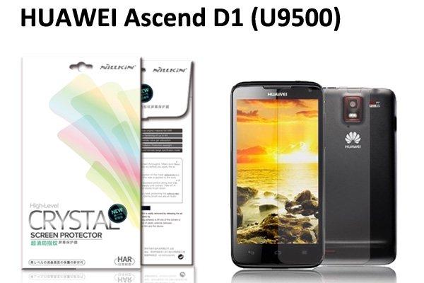 【ネコポス送料無料】HUAWEI Ascend D1 (U9500 U9510) 液晶保護フィルムセット クリスタルクリアタイプ  [1]