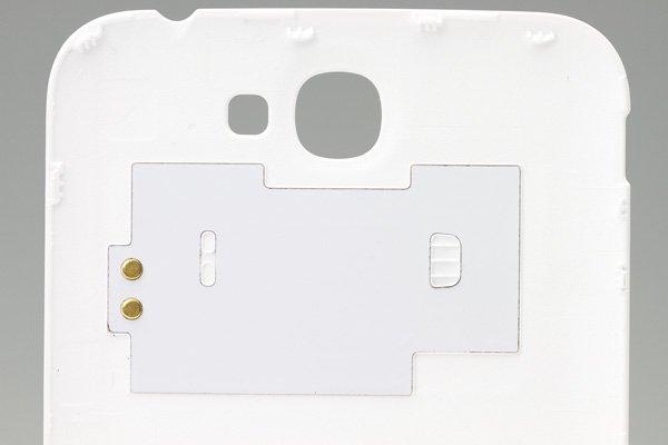 【ネコポス送料無料】SAMSUNG Galaxy Note2 (GT-N7100) バッテリーカバー ホワイト  [4]