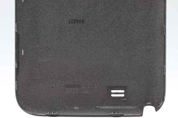 【ネコポス送料無料】SAMSUNG Galaxy Note2 (GT-N7100) バッテリーカバー グレー  [4]