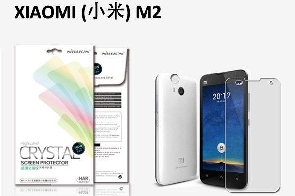 【ネコポス送料無料】Xiaomi (小米) MI2/2S 液晶保護フィルムセット クリスタルクリアタイプ  [1]