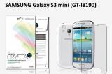 【ネコポス送料無料】SAMSUNG Galaxy S3 mini (GT-I8190)液晶保護フィルムセット クリスタルクリア