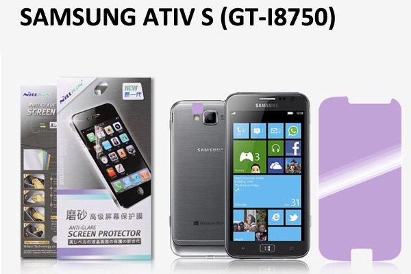 【ネコポス送料無料】 SAMSUNG Galaxy ATIV S (GT-I8750) 液晶保護フィルムセット アンチグレアタイプ  [1]