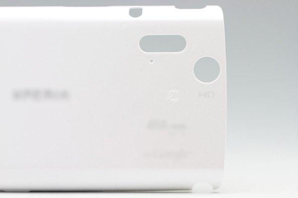 【ネコポス送料無料】Xperia acro IS11S バックカバー ホワイト  [3]