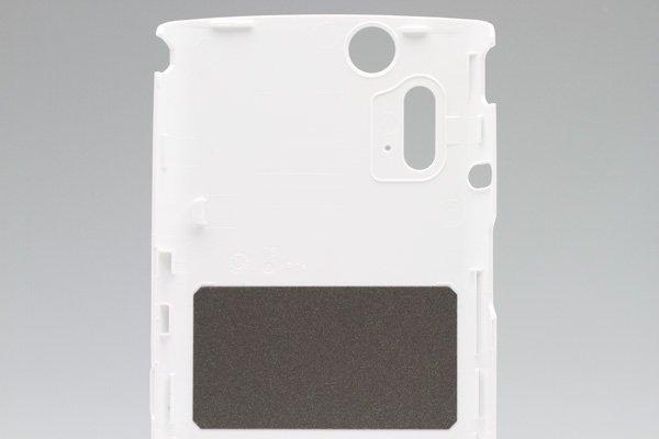 【ネコポス送料無料】Xperia acro IS11S バックカバー ホワイト  [4]