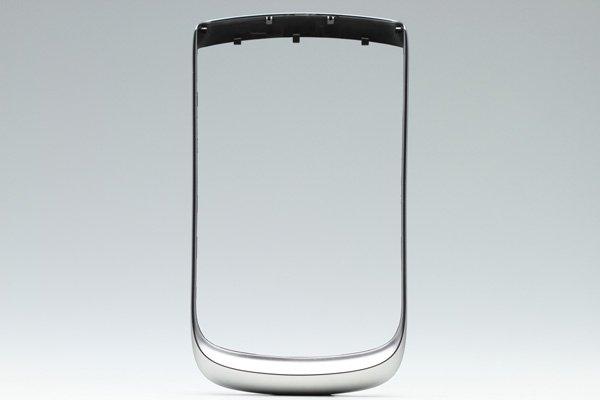 【ネコポス送料無料】Blackberry Torch 9810 フロントフレーム ロゴなし シルバー  [1]