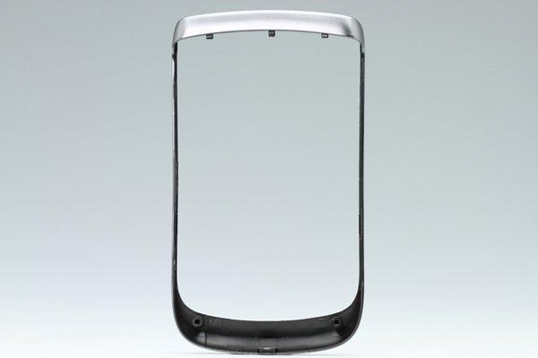 【ネコポス送料無料】Blackberry Torch 9810 フロントフレーム ロゴなし シルバー  [2]