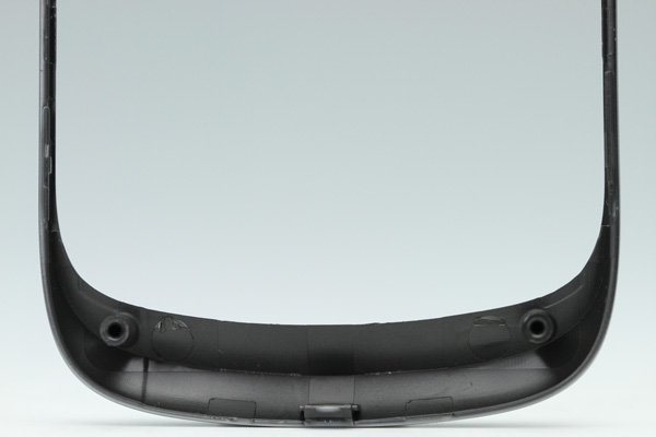 【ネコポス送料無料】Blackberry Torch 9810 フロントフレーム ロゴなし シルバー  [4]