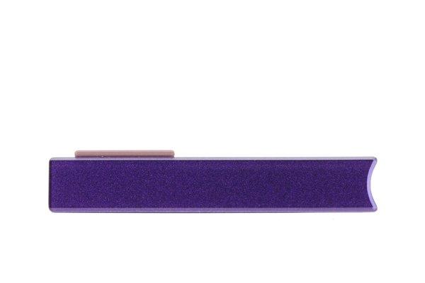 【ネコポス送料無料】 Xperia Z (C6603 SO-02E) キャップセット パープル  [2]