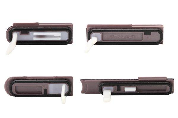 【ネコポス送料無料】 Xperia Z (C6603 SO-02E) キャップセット パープル  [4]