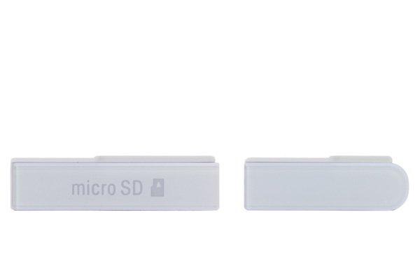 【ネコポス送料無料】 Xperia Z (C6603 SO-02E) キャップセット ホワイト  [1]