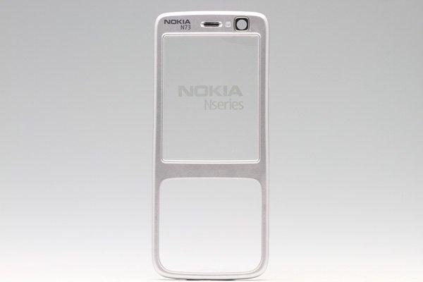 【ネコポス送料無料】NOKIA N73 / SoftBank 705NK フェースプレート シルバー  [1]
