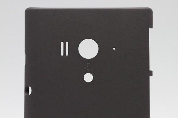 【ネコポス送料無料】Xperia acro HD SO-03D  背面カバー ブラック  [3]