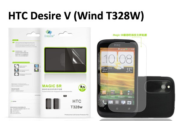 【ネコポス送料無料】指の滑りがスルッスル HTC Desire X V (T328E W) 液晶保護フィルム アンチグレア  [1]