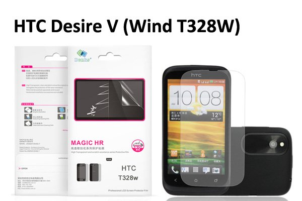 【ネコポス送料無料】 傷防止液晶保護フィルム HTC DesireX V (T328E W) クリスタルクリアタイプ  [1]