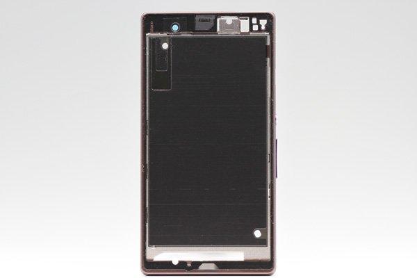 【ネコポス送料無料】Xperia Z (C6603 SO-02E) ミドルケース パープル  [1]