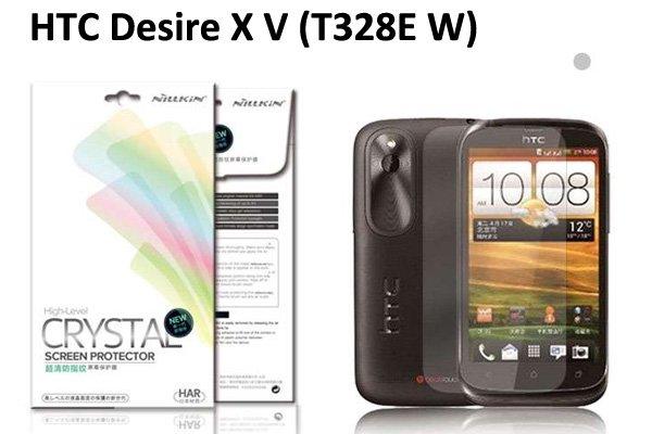 【ネコポス送料無料】HTC Desire X V(T328E W) 液晶保護フィルムセット クリスタルクリアタイプ  [1]