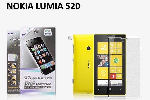 【ネコポス送料無料】 NOKIA LUMIA 520 液晶保護フィルムセット アンチグレアタイプ  [1]