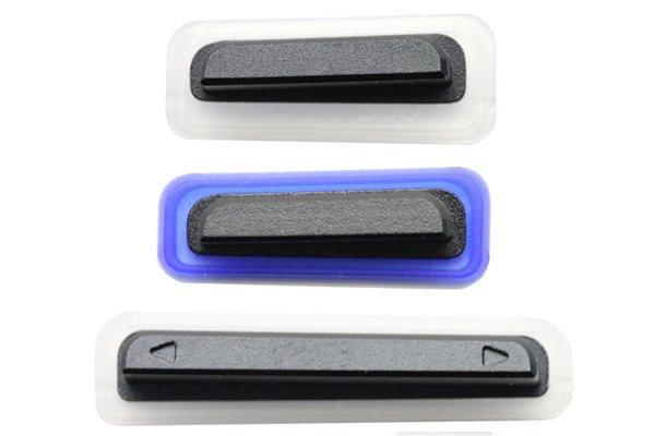 【ネコポス送料無料】 Xperia TX (LT29i SO-04D) サイドキー ブラック 3点セット  [1]