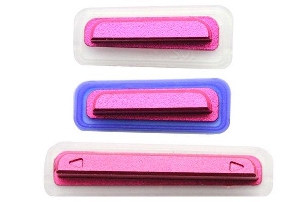 【ネコポス送料無料】 Xperia TX (LT29i SO-04D) サイドキー ピンク 3点セット  [1]