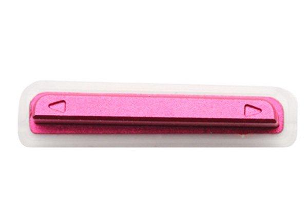 【ネコポス送料無料】 Xperia TX (LT29i SO-04D) サイドキー ピンク 3点セット  [4]
