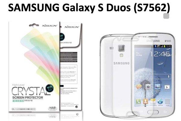 【ネコポス送料無料】 SAMSUNG Galaxy S Duos (S7562) 液晶保護フィルムセット クリスタルクリア  [1]