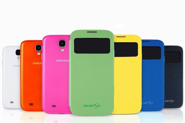 【ネコポス送料無料】SAMSUNG Galaxy S4 (GT-I9500)  S-View Cover 全7色  [1]