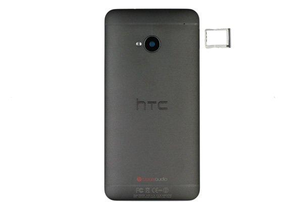 【ネコポス送料無料】HTC One (M7 801) バックカバー ブラック  [1]