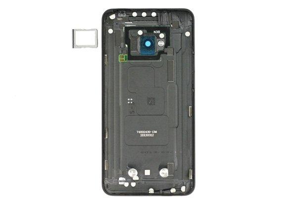 【ネコポス送料無料】HTC One (M7 801) バックカバー ブラック  [2]