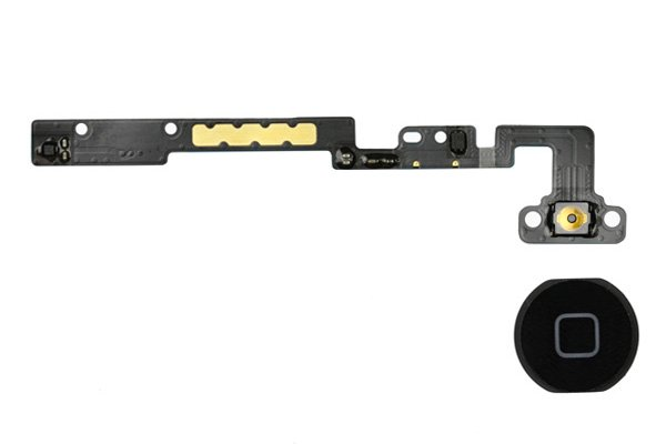 【ネコポス送料無料】Apple iPad mini 1,2共通 ホームボタンセット 全2色  [1]