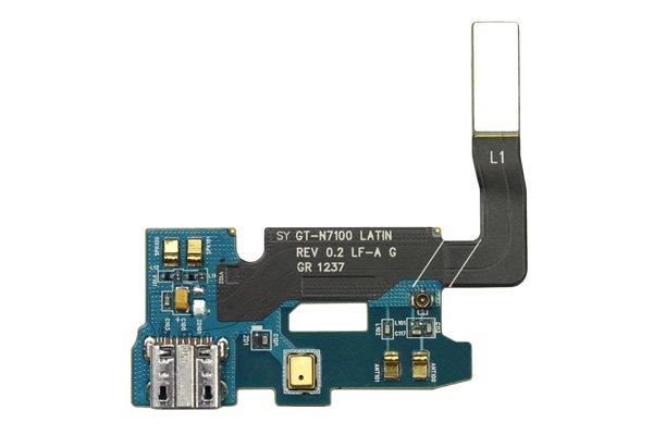 【ネコポス送料無料】SAMSUNG Galaxy Note2 (GT-N7100) マイクロUSBコネクターケーブル  [1]