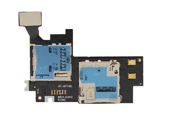 【ネコポス送料無料】SAMSUNG Galaxy Note2 (GT-N7100) SIM マイクロSDスロットケーブル  [1]