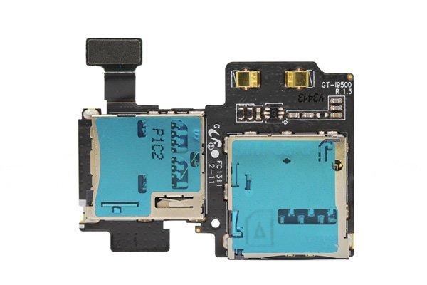 【ネコポス送料無料】SAMSUNG Galaxy S4 (GT-I9500) SIM マイクロSDスロットASSY  [1]