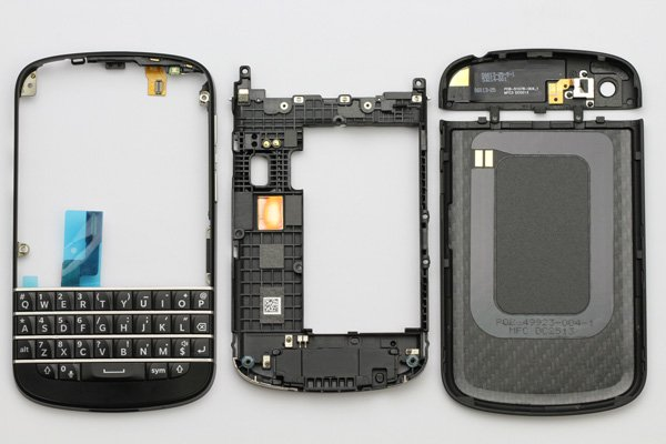Blackberry Q10 外装セット ブラック  [9]