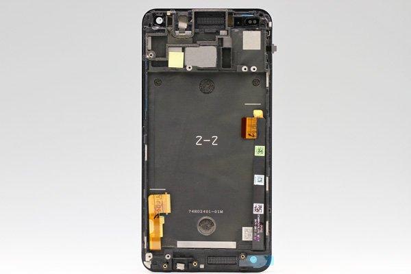 HTC One (M7 801) フロントパネルASSY ブラック  [2]