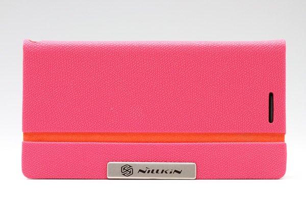 【ネコポス送料無料】Huawei Ascend P6 高品質PUケース 横開きタイプ ピンク  [1]