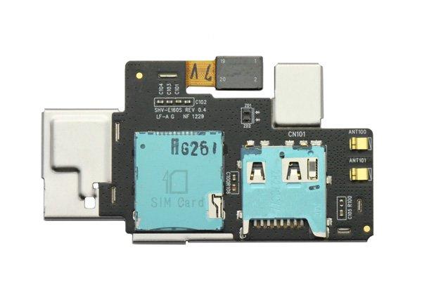 【ネコポス送料無料】SAMSUNG Galaxy Note (SC-05D) SIM & マイクロSDケーブルASSY  [1]